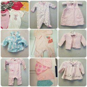 NEWBORN baby girl 21 PC bundle (A16)
